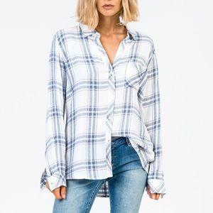 Rails | Blue & Pink Plaid Hunter Shirt | XS